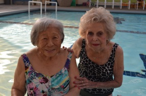 Spring with Jane (also attends Water Aerobics and is 95)