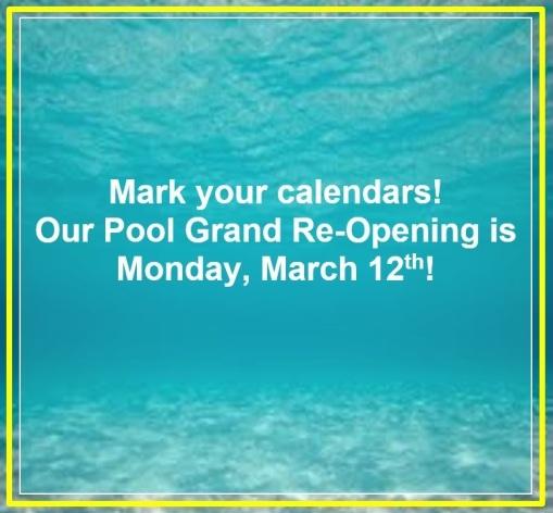 Pool Announcement