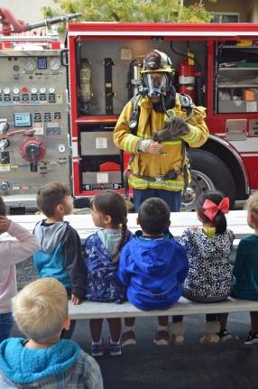 Visit from City of Orange Fire Department 2