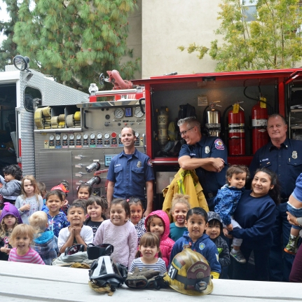 Visit from City of Orange Fire Department 3